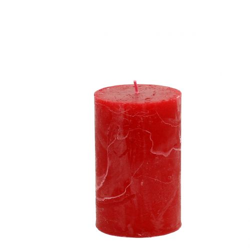Durchgefärbte Kerzen Rot 60x100mm 4St