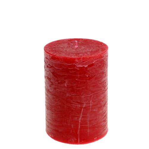 Durchgefärbte Kerzen Rot 85x120mm 2St