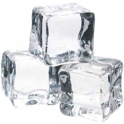 Deko-Eiswürfel, Sommerdeko, künstliches Eis 3cm 6St