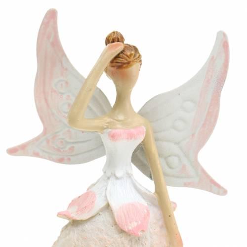 Deko-Figur Elfe Weiß 12cm 2St
