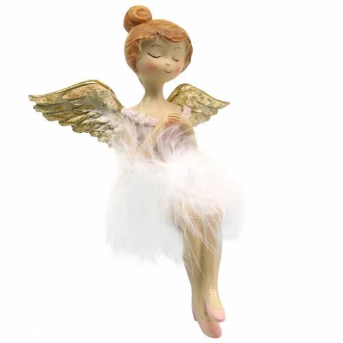 Deko Ballerina-Engel Kantensitzer Ø11,5 H15cm 2St
