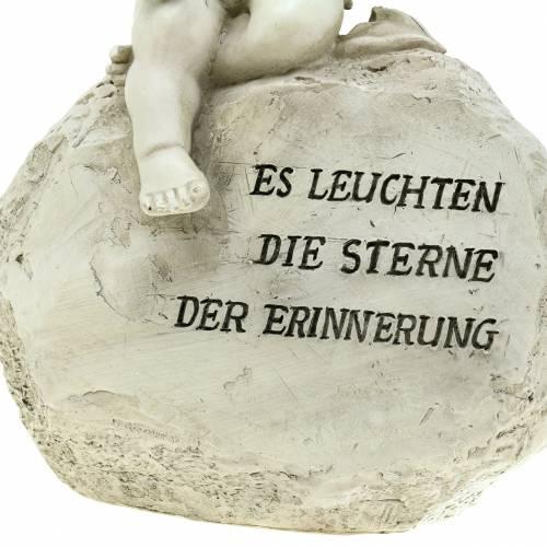 Deko Engel am Stein mit Spruch 17cm x 11cm x 25,5cm