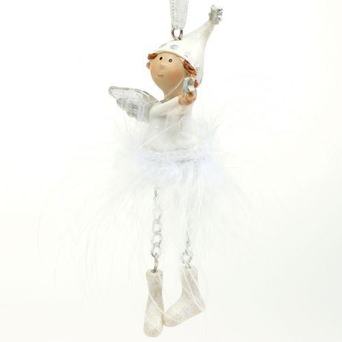 Engel zum Hängen Weiß 11cm 4St