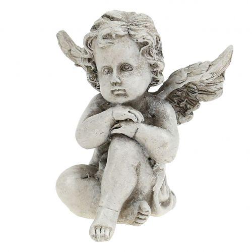 Engel Figuren Grau 9cm 3St