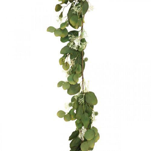 Künstliche Eukalyptus-Girlande mit Disteln Herbstdeko 150cm
