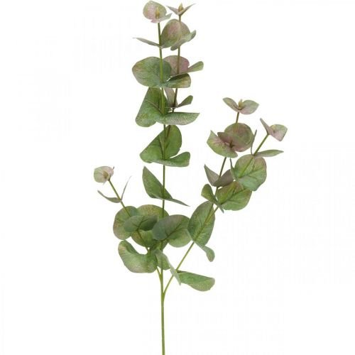 Künstlicher Eukalyptus Zweig Deko Grünpflanze Grün, Rosa 75cm