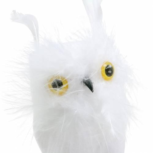 Dekostecker Eule Weiß 10cm 2St