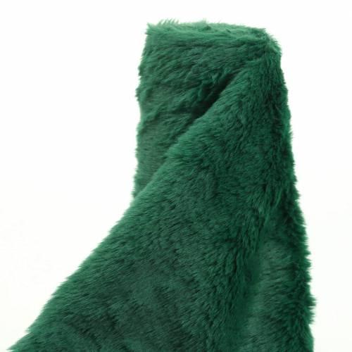 Deko Fellband Dunkelgrün 20cm x 200cm