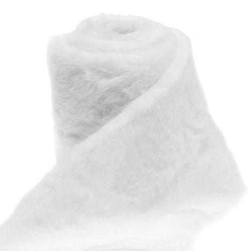 Deko Fellband Weiß 10x200cm