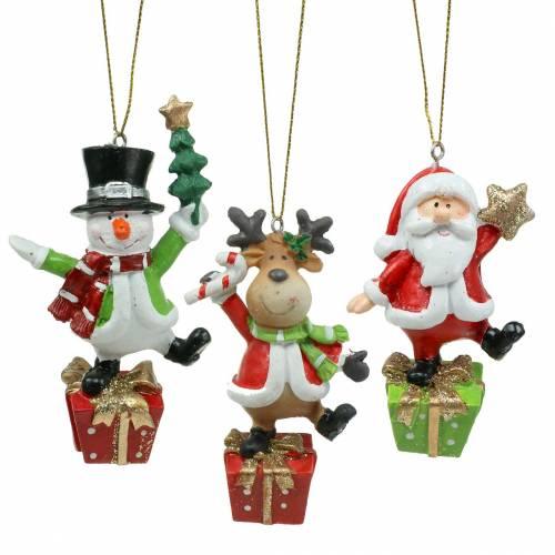 Weihnachtsfiguren 9cm – 11cm zum Hängen 3St