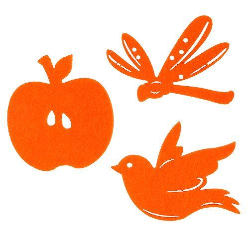 Tischdeko Streuartikel Dekoration Eule Filz 10 St orange