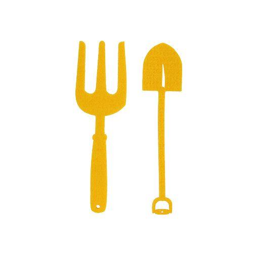 Filz Gartenwerkzeug Gelb 6St
