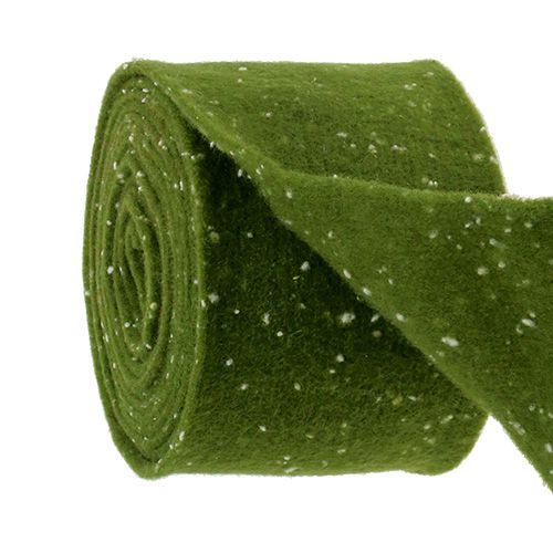 Filzband Moosgrün mit Punkten 15cm 5m