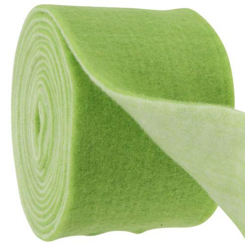 Filzband 15cm x 5m zweifarbig Grün, Weiß