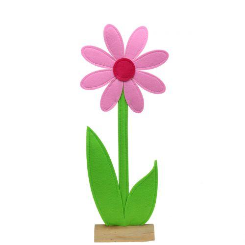 Filzblume Rosa 87cm