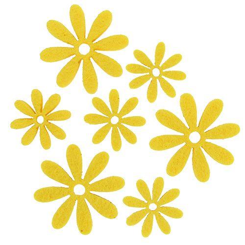 Filzblumen Set in Gelb 96St