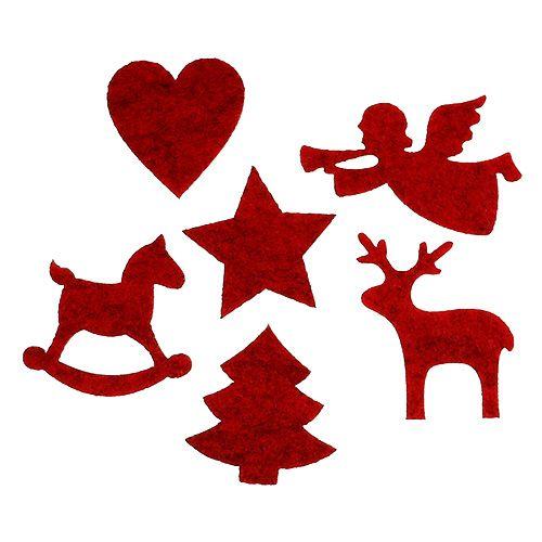 filzdeko weihnachtsmotive rot 3 5 6cm 144st preiswert online kaufen. Black Bedroom Furniture Sets. Home Design Ideas