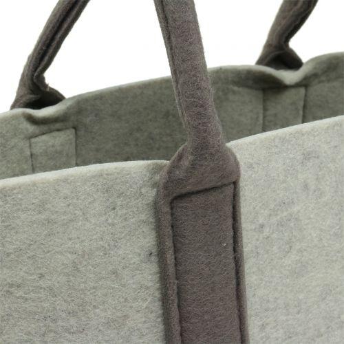 Filztasche Grau/Braun 54cm x 34cm x 15cm