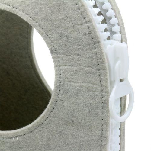 Filztasche Grau H58cm