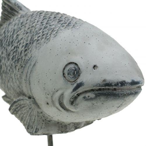 Gartenfigur Fisch am Ständer H20cm