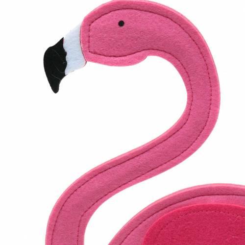 Sommerdeko Flamingo stehend Filz Pink 28×H58cm