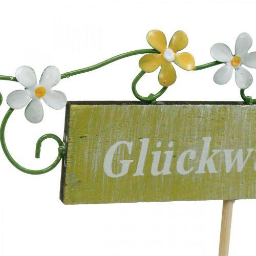Floraler Dekostecker für verschiedene Anlässe, Holzschild mit Aufschrift, Blumenstecker 6St