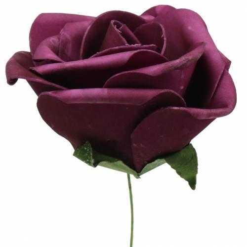Foam Rose Lila Ø15cm 4St