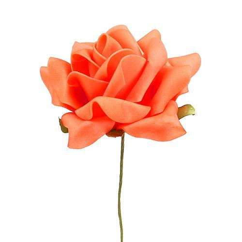 Foam Rose Ø 10cm Orange 8St