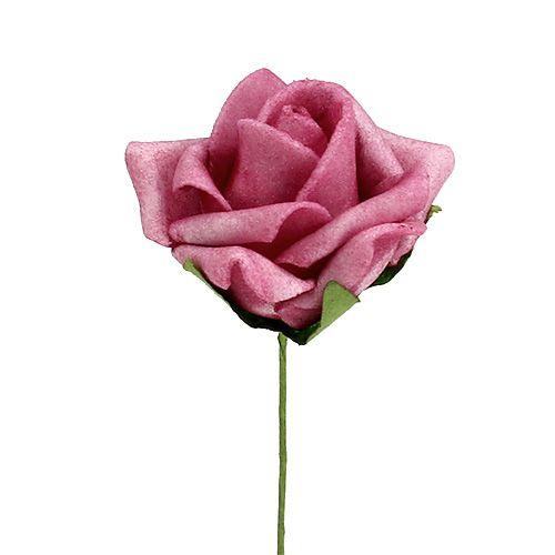 Foam Rose Ø4,5cm Erika 36St