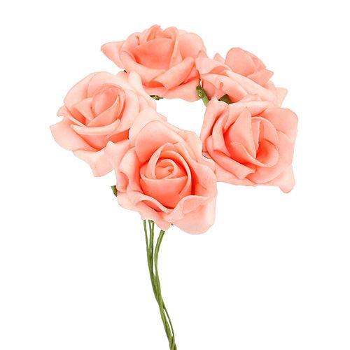Foam Rose Ø4,5cm Lachs 36St
