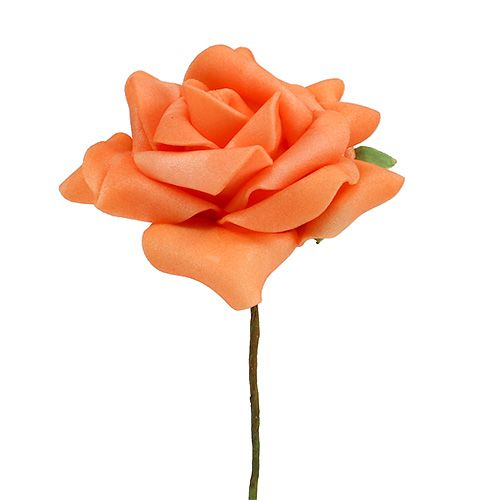 Foam-Rose Ø7,5cm Orange 18St