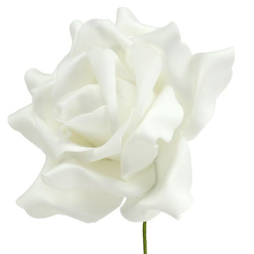 Foam Rose Weiß Ø15cm 4St