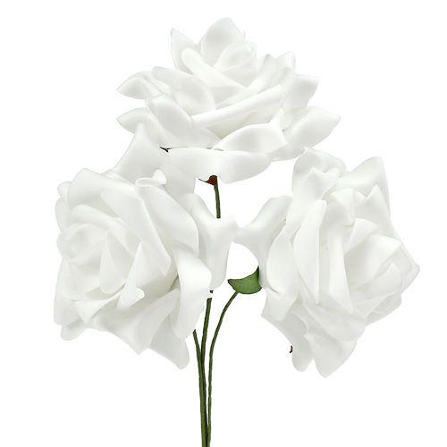 Foamrosen Weiß Ø10cm 8St