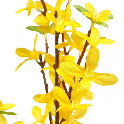 Künstliche Forsythie, Kunstzweig Goldglöckchen, Frühlingsdeko L82cm