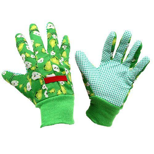 Kixx Frauenhandschuhe Größe 8 Grün mit Motiv