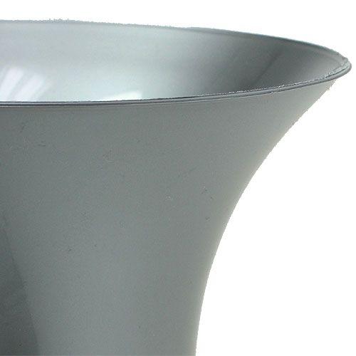 Grabvase Silber 40cm
