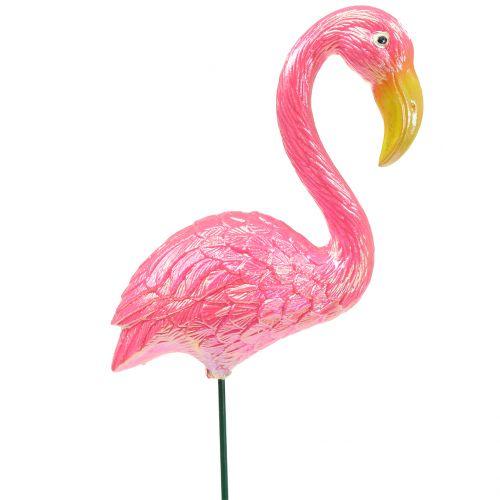 Gartenstecker Flamingo Rosa 15cm