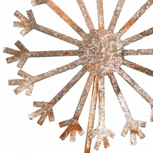 Gartenstecker Pusteblume Edelrost Metall Ø18 H88cm