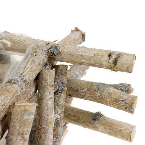 Pflanzengefäß Birkenäste Weiß gewaschen 28cm x 28cm H10cm