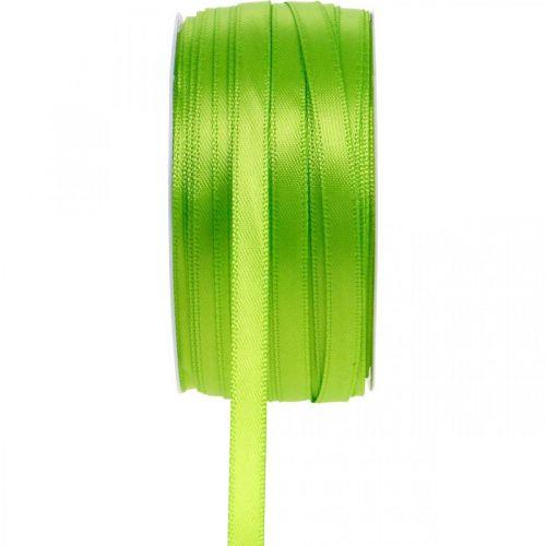 Schleifenband, Geschenkband Hellgrün 6mm 50m