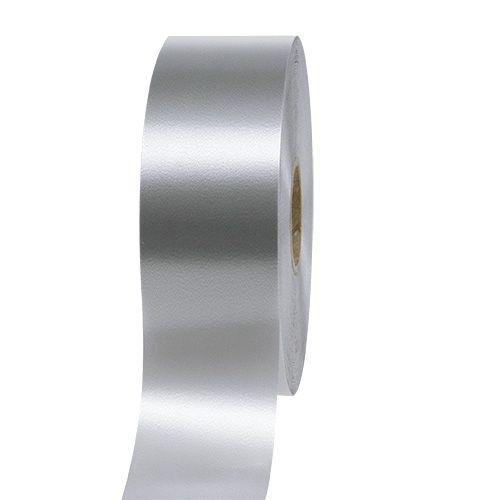 Geschenkband Silber 50mm 100m