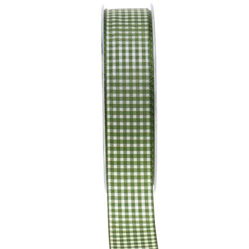 Geschenkband Karo Grün 25mm 20m