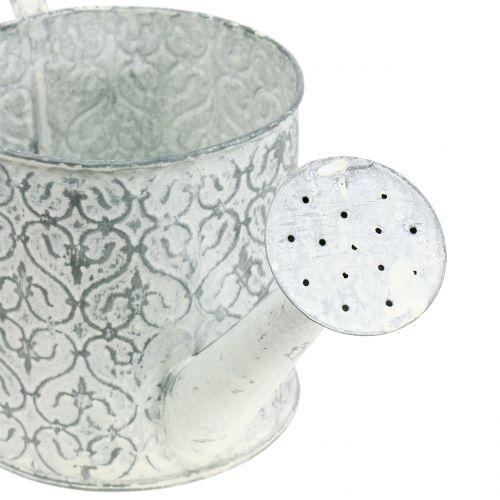 Pflanzgefäß Gießkanne verzinkt Crème gewaschen Ø13cm H13cm