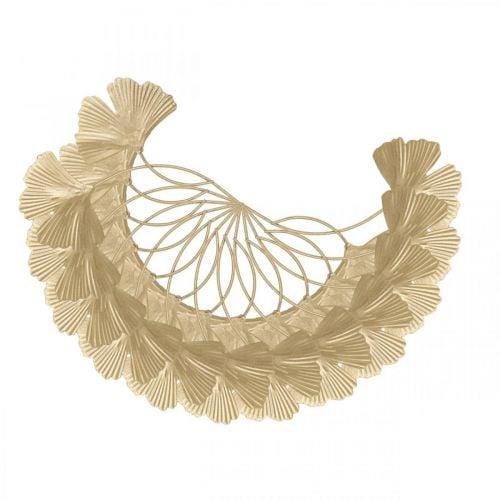 Ginkgoblatt Metall Ginkgo Deko Golden Metalldeko 14cm 12St