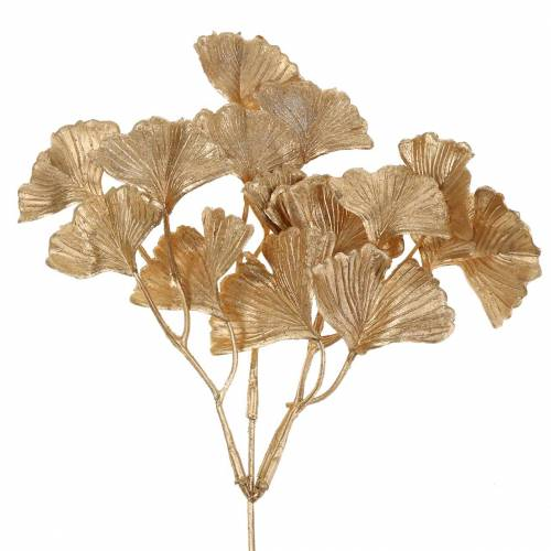 Künstlicher Ginkgozweig Gold 35cm 3St