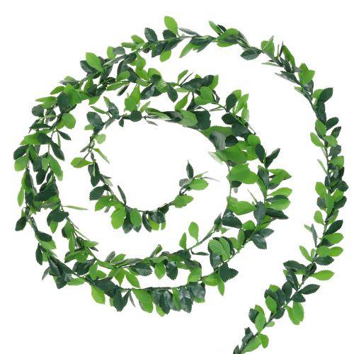 Pflanzengirlande Grün 7,5m