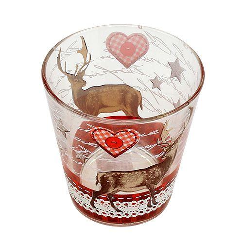 glas mit hirschmotiv klein 8 5cm h9cm 1st preiswert online kaufen. Black Bedroom Furniture Sets. Home Design Ideas