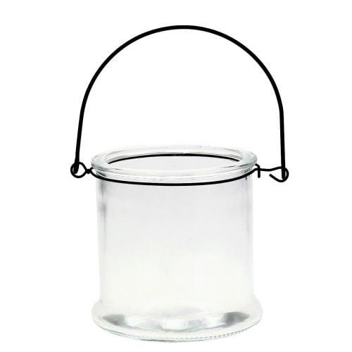 Windlicht Glas zum Hängen Ø12cm H12,5cm