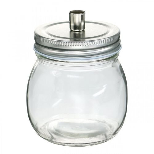 Deko Glas mit Kerzenhalter Kerzendeko Ø8cm H10,5cm 4St
