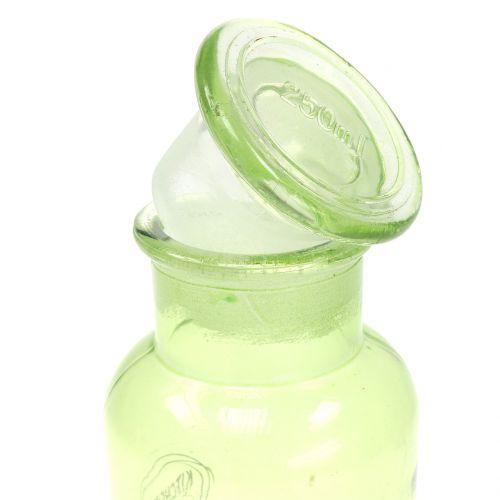 Deko Glasflasche mit Verschluss 14cm 2St